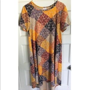 LuLaRoe Carly Dress Large UNICORN Jacquard